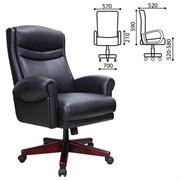Кресло офисное BRABIX PREMIUM Gladiator EX-700, дерево, натур. кожа, черное, 530872