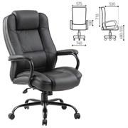 Кресло офисное BRABIX PREMIUM Heavy Duty HD-002 , усиленное, НАГРУЗКА до 200 кг, экокожа, 531829
