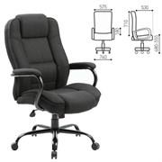 Кресло офисное BRABIX PREMIUM Heavy Duty HD-002, усиленное, НАГРУЗКА до 200 кг, ткань, 531830