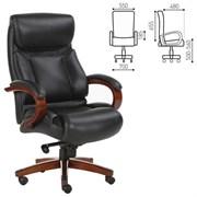Кресло офисное BRABIX PREMIUM Infinity EX-707, дерево, натуральная кожа, черное, 531826