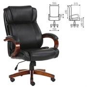 Кресло офисное BRABIX PREMIUM Magnum EX-701, дерево, рециклированная кожа, черное, 531827