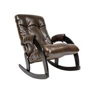 """Кресло-качалка """"модель 67"""" венге/экокожа коричневая"""