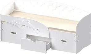 """Детская кровать """"Дельфин"""" 1,6 с мягкой спинкой"""