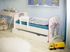 """Детская кровать """"Котята 1,6"""" с бортиком"""