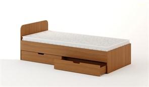 Кровать с ящиками 900 темный бук